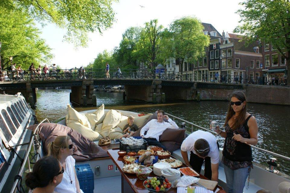 sail and eat in Amsterdam